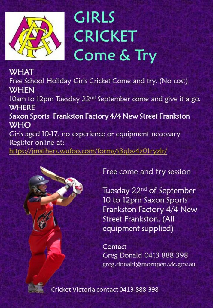 MPCA Girls Cricket Clinic